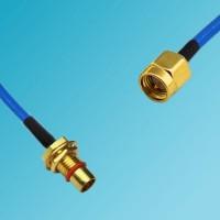 BMA Bulkhead Male to SMA Male Semi-Flexible Cable