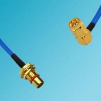 BMA Bulkhead Male to SMA Male Right Angle Semi-Flexible Cable