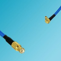 MCX Male to MMCX Male Right Angle Semi-Flexible Cable