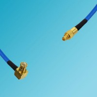 MCX Male Right Angle to MMCX Male Semi-Flexible Cable