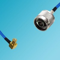 MCX Male Right Angle to N Male Semi-Flexible Cable