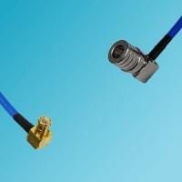 MCX Male Right Angle to QMA Male Right Angle Semi-Flexible Cable