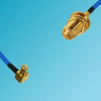 MCX Male Right Angle to RP SMA Bulkhead Female Semi-Flexible Cable