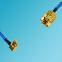 MCX Male Right Angle to RP SMA Male Semi-Flexible Cable