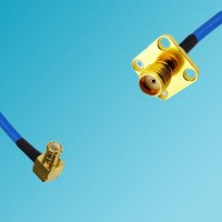 MCX Male Right Angle to SMA 4 Hole Female Semi-Flexible Cable