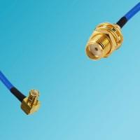 MCX Male Right Angle to SMA Bulkhead Female Semi-Flexible Cable