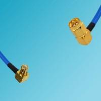 MCX Male Right Angle to SMA Male Right Angle Semi-Flexible Cable