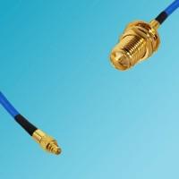 MMCX Male to RP SMA Bulkhead Female Semi-Flexible Cable
