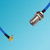 MMCX Male Right Angle to N Bulkhead Female Semi-Flexible Cable
