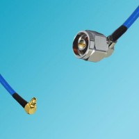 MMCX Male Right Angle to N Male Right Angle Semi-Flexible Cable