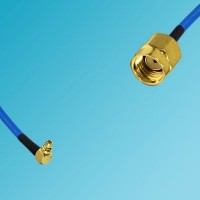 MMCX Male Right Angle to RP SMA Male Semi-Flexible Cable