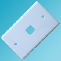 120 Type Wall Plate 1 Hole White Color
