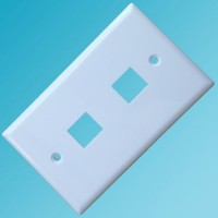 120 Type Wall Plate 2 Hole White Color