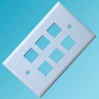 120 Type Wall Plate 6 Hole White Color