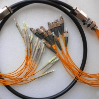 12 Strand FC LC 50 Multimode Outdoor Waterproof Patch Cable