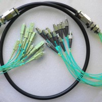 12 Strand FC SC OM3 Multimode Outdoor Waterproof Patch Cable