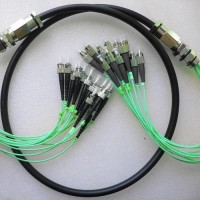 12 Strand FC ST OM3 Multimode Outdoor Waterproof Patch Cable